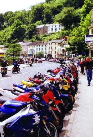 motorbikes at Matlock Bath