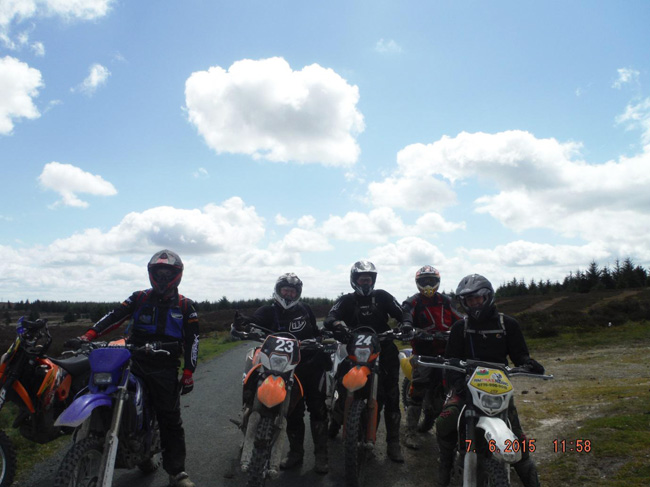 Trail riders in Wales