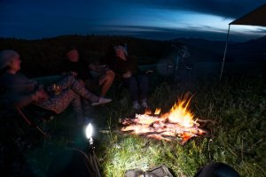 camping - pit fire - motorbike motorcycle bike travel ride unlimited rideunlimited