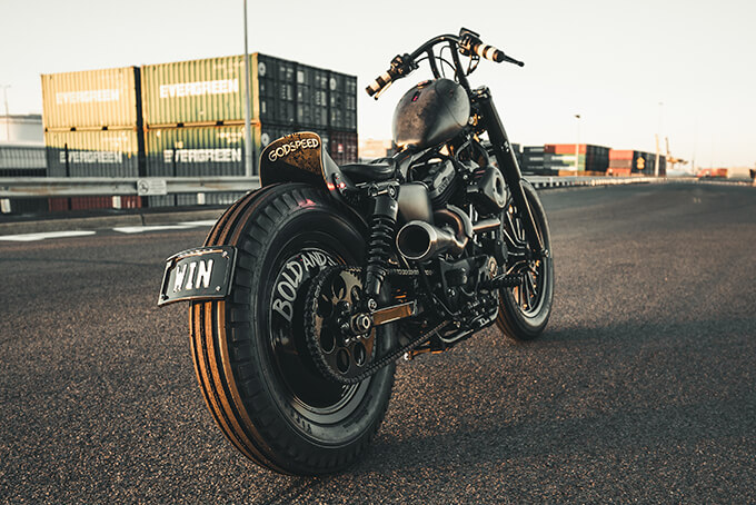 harley davidson iron 883 sailor jerrys whiskey gasoline motor co we buy any bike custom motorcycle