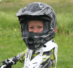 child motorcycle rider