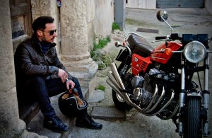 motorcycle and rider