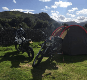 motorcycle adventure travel camping