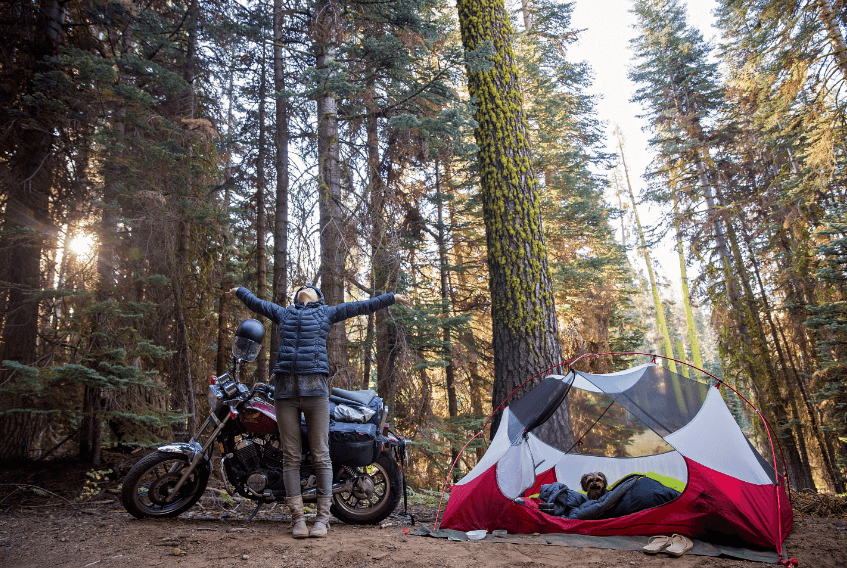 motorcycle adventure camping