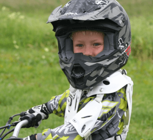 child in helment