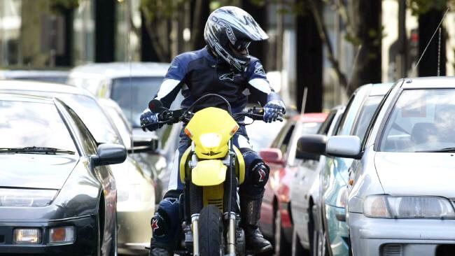 Filtering through traffic on a motorbike: What's the deal?